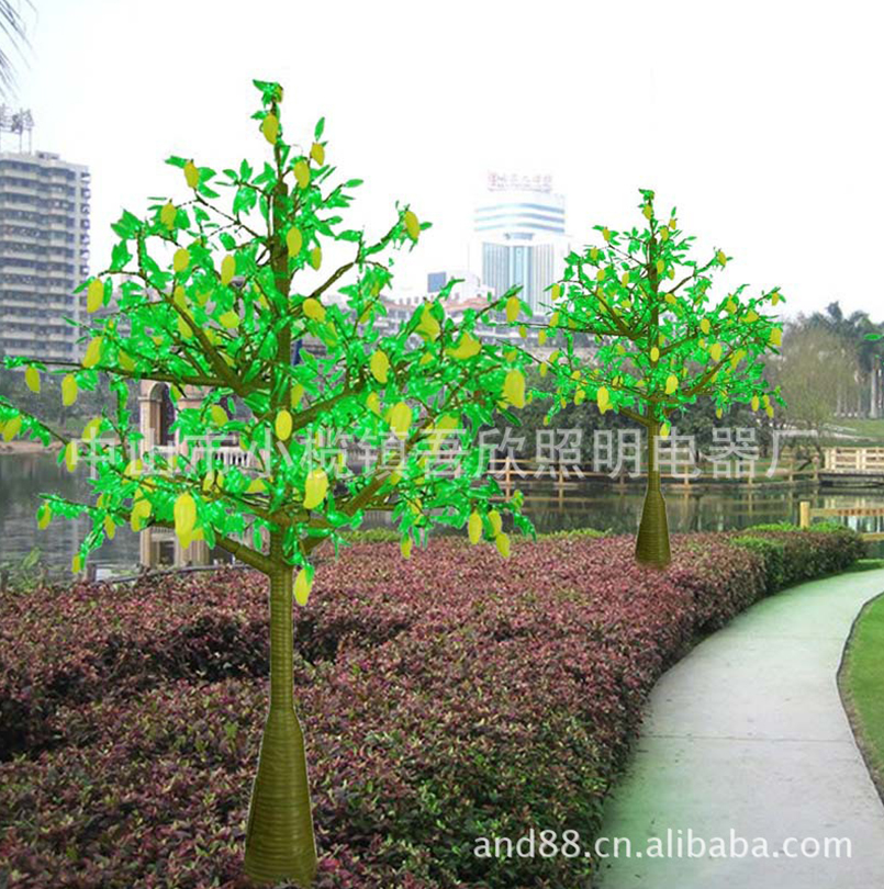 artificial led fruit tree lighting