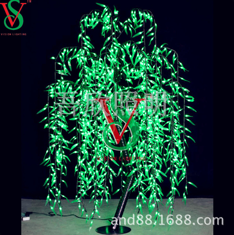 outdoor green color led willow tree lights