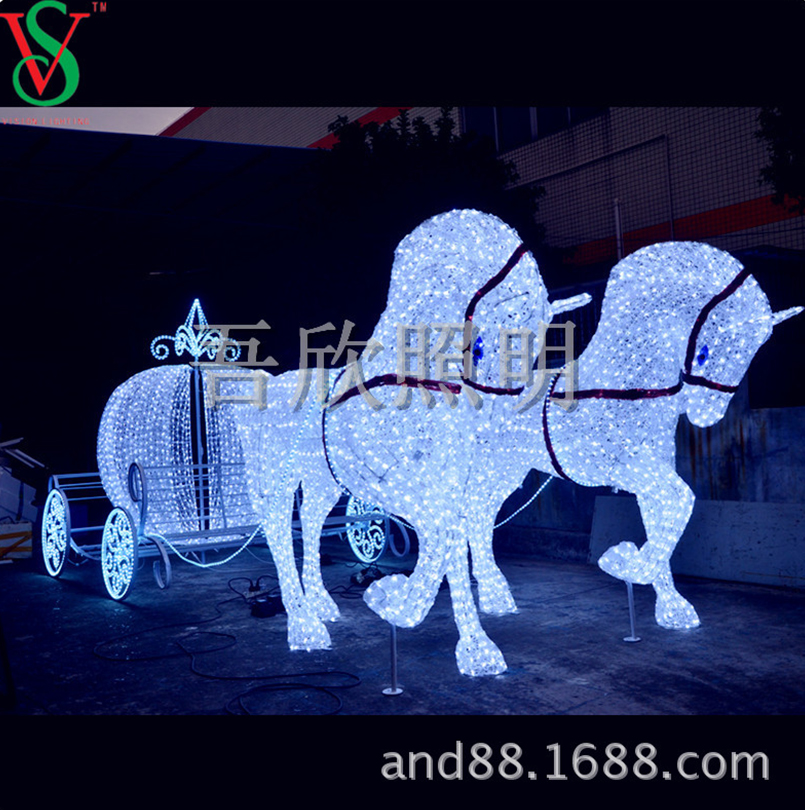 christmas horse carriage decorations