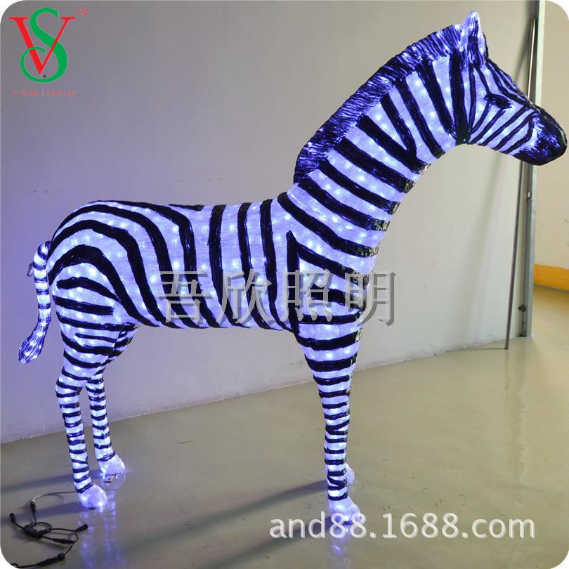 Giant 3D motif holiday outdoor decoraion zebra