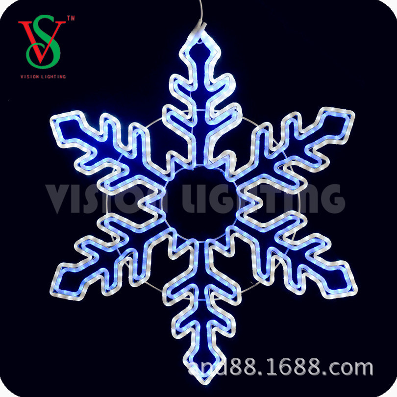 CE approved new style led christmas snowflake light