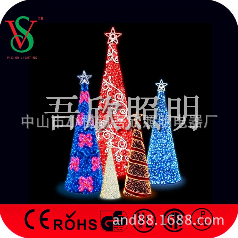 led christmas lights garland tree lights