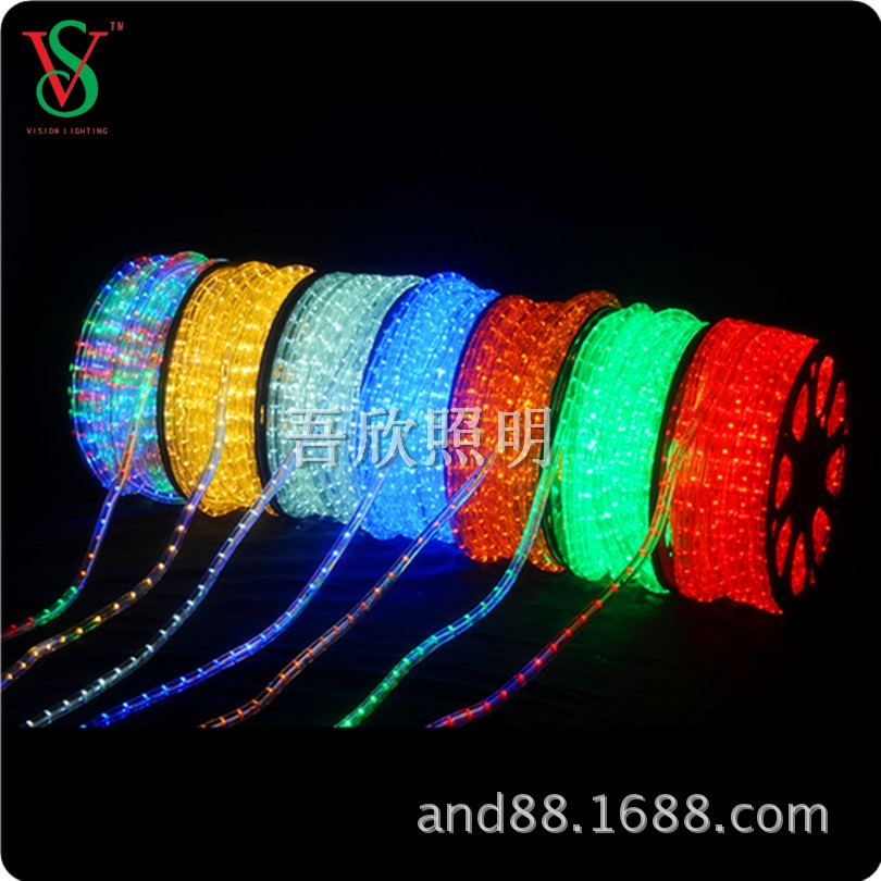 led 2wire 10mm rope light for outdoor