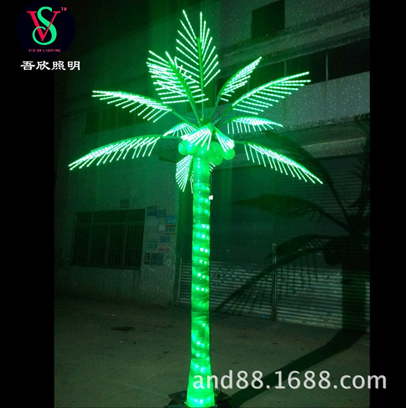 Christmas led coconut tree light