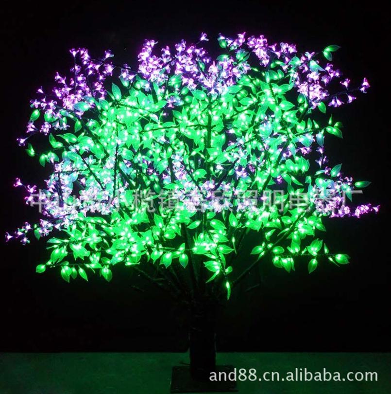 Christmas lighting trees
