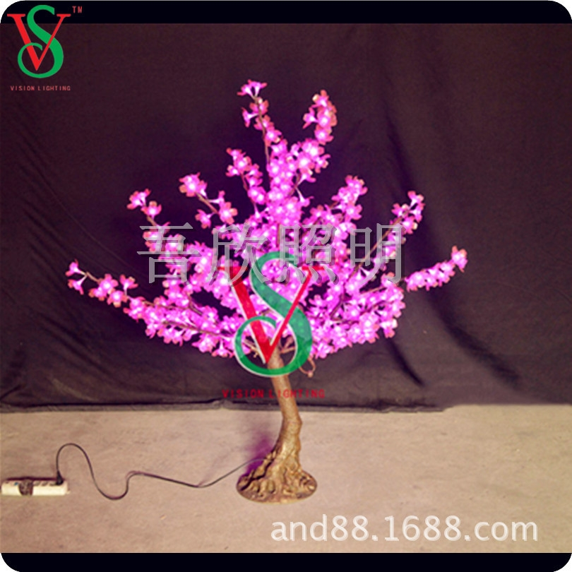 High simulation artificial cherry tree lights for outdoor street decoration