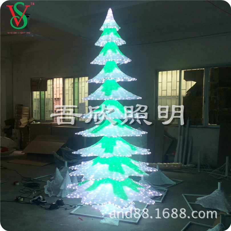Outdoor decoration standing 3D acrylic  snowtree lights