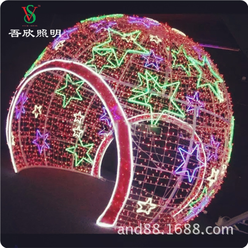 3D giant big christmas ball with door for people walking through