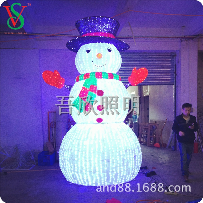 led Acrylic 3D snowman lights Christmas lighting