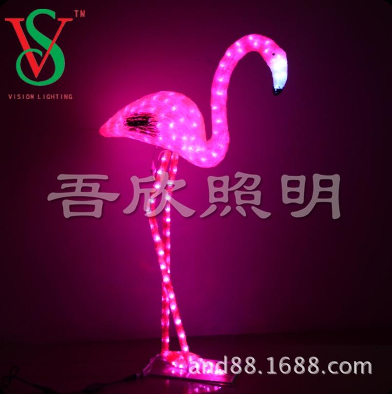 3D flamingo motif Christmas lights
