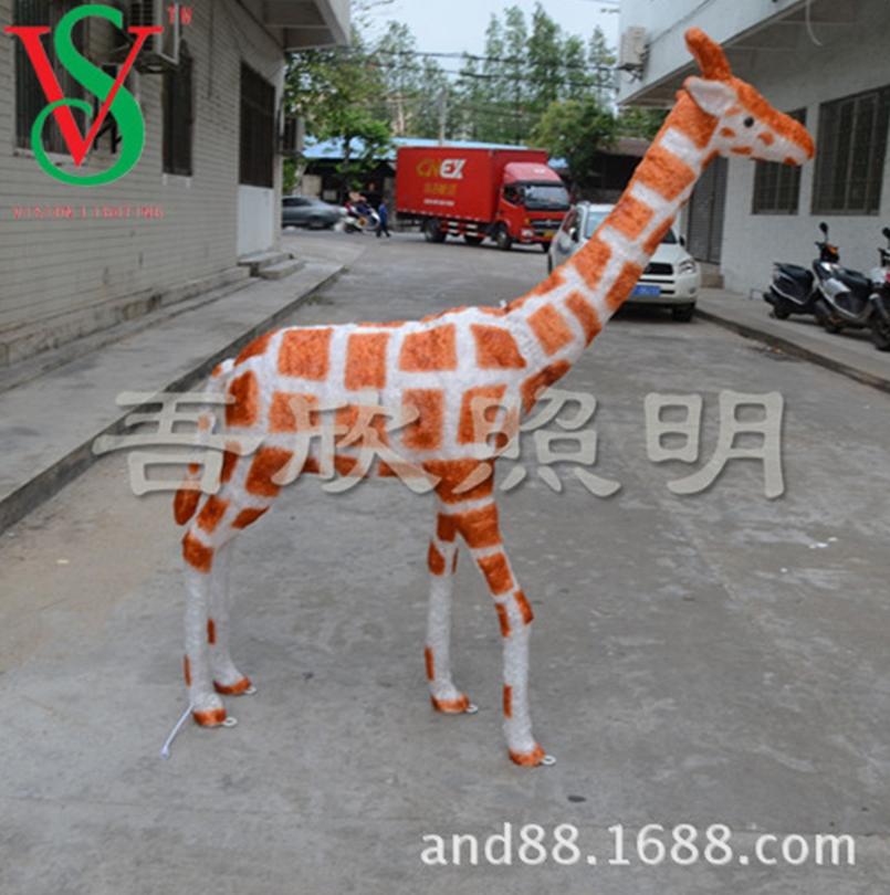 Christmas decoraion led Acrylic 3D giraffe scupture lights