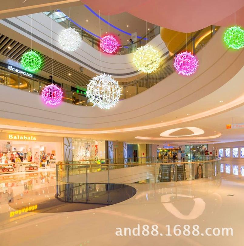 3D acrylic ball lights for holiday decoraion