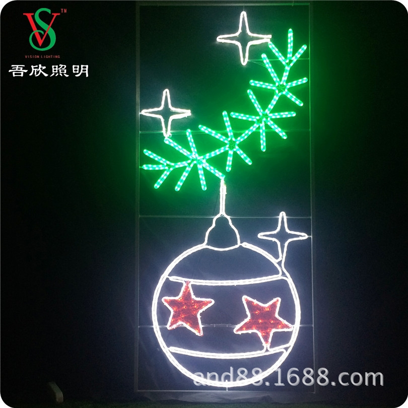 Christmas Decorative Outdoor Pole Street Motif/Xmas Decoration Led Motif Light For Pole
