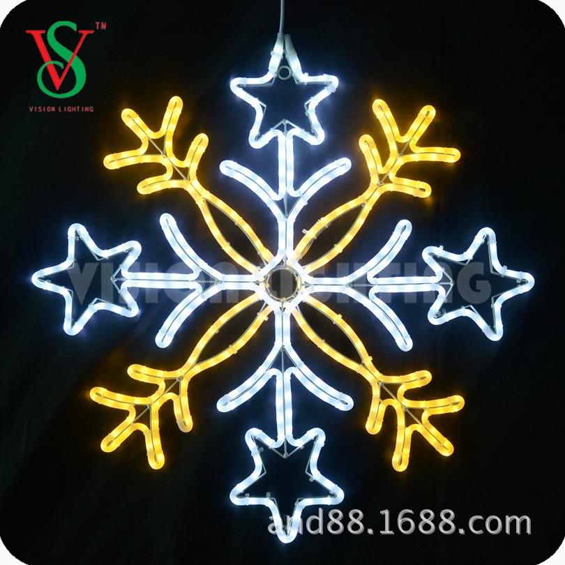 led christmas snowflake motif lights