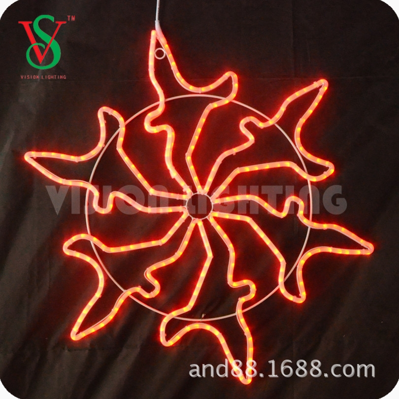 Christmas decoration snowflake street LED light