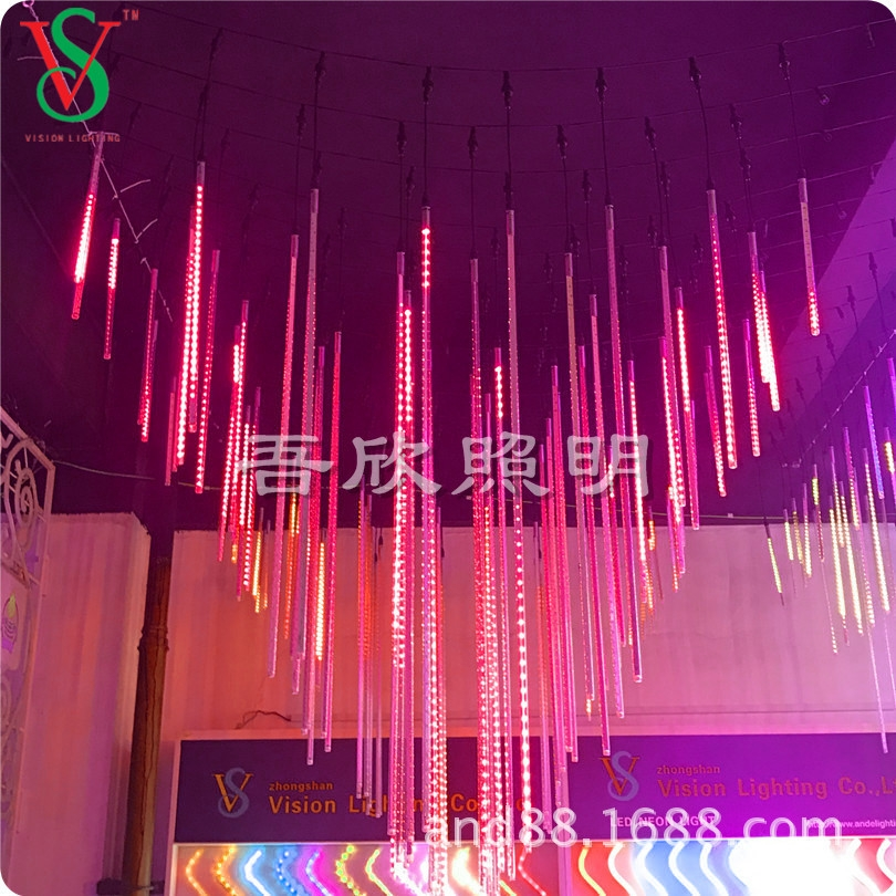 Meteor shower led light tube