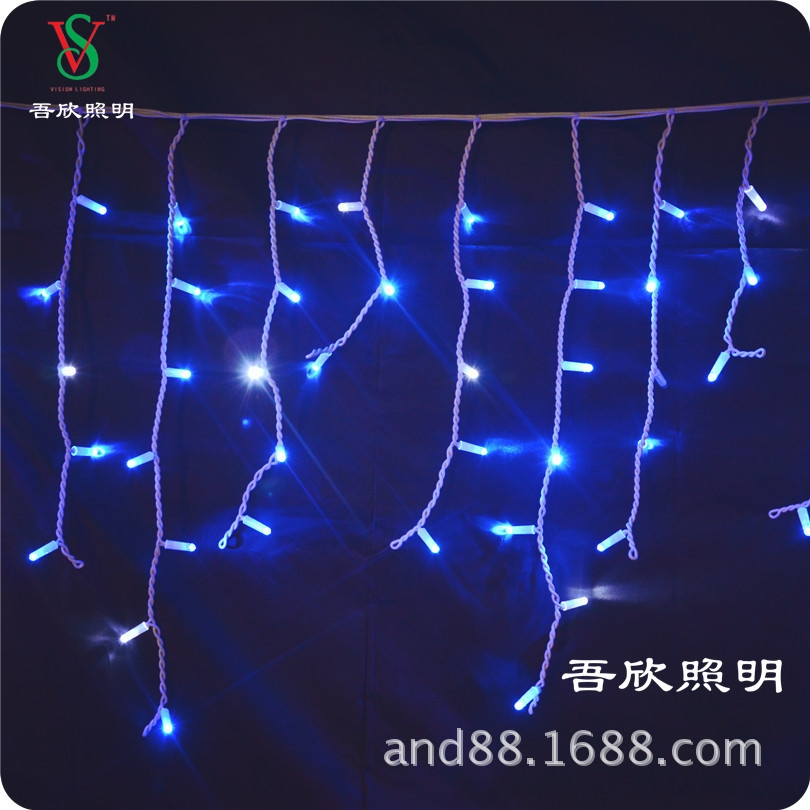 outdoor rubber cable icicle lights