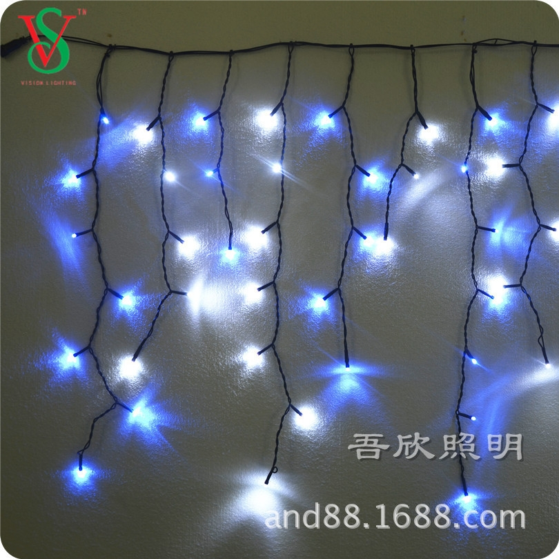 white and blue led outdoor christmas ice lights
