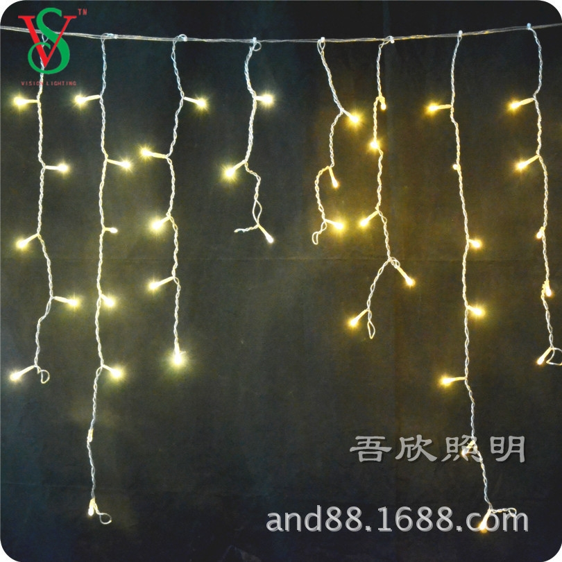 220V warmwhite color led icicle light