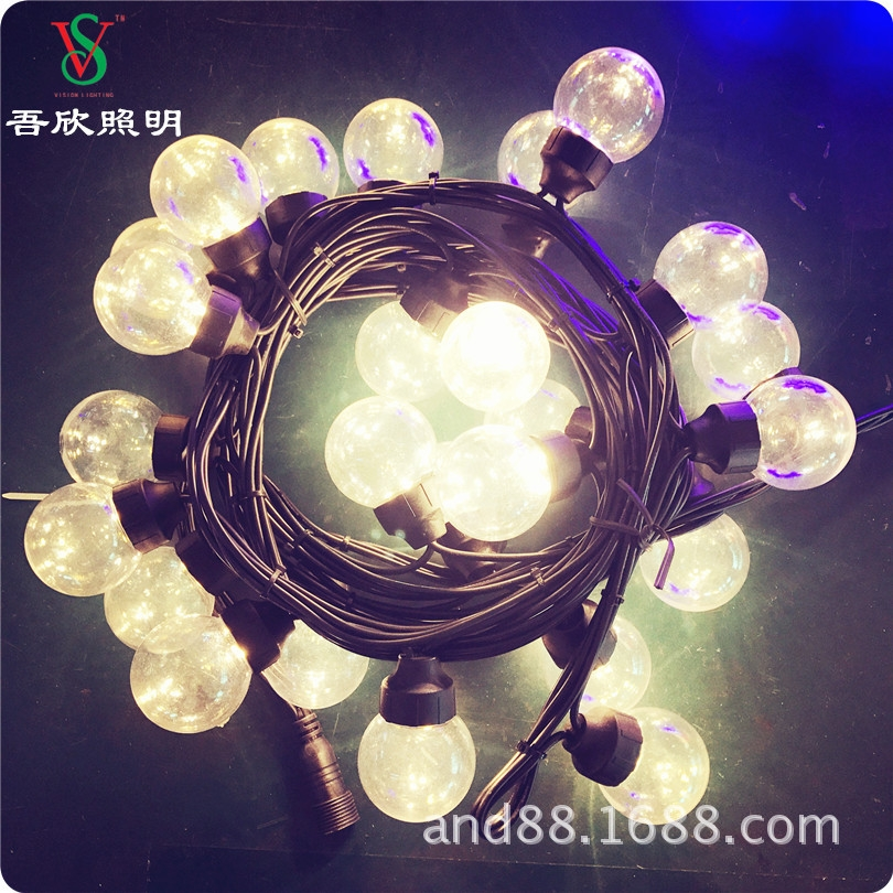 led ball string light 50mm ball